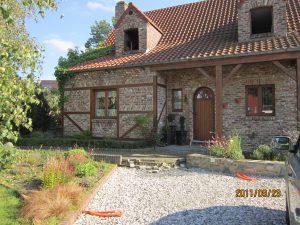 Entreprise générale de construction rénovation La maison avec briques de réemploi à Sart-Saint-Laurent